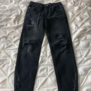 nwot free people black jeans 24
